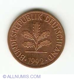 Image #2 of 2 Pfennig 1992 A