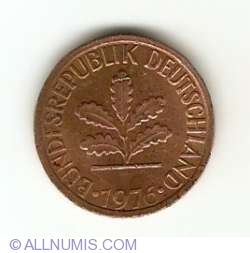 Image #2 of 1 Pfennig 1976 G