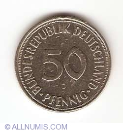 Image #1 of 50 Pfennig 1950 D