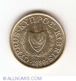 Image #2 of 1 Cent 1996