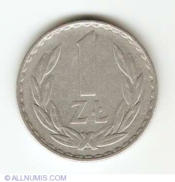 Poland 1984-1 Zloty Aluminum Coin Eagle with wings open