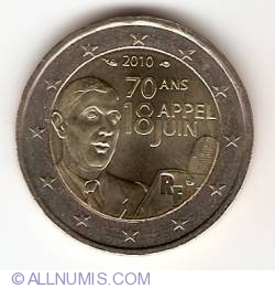 Image #2 of 2 Euro 2010 - 70th anniversary of the Appeal of June 18