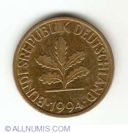 Image #2 of 10 Pfennig 1994 F