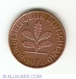 Image #2 of 2 Pfennig 1974 J