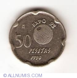 Image #1 of 50 Pesetas 1990