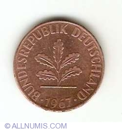 Image #2 of 1 Pfennig 1967 D