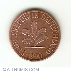 Image #2 of 1 Pfennig 1990 D
