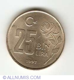 Image #1 of 25000 Lira 1997