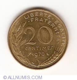 Image #1 of 20 Centimes 1970