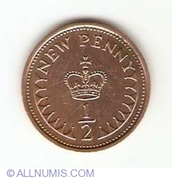 1/2 New Penny 1976