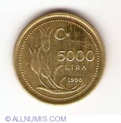 Image #1 of 5000 Lira 1998