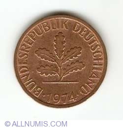 Image #2 of 2 Pfennig 1974 G