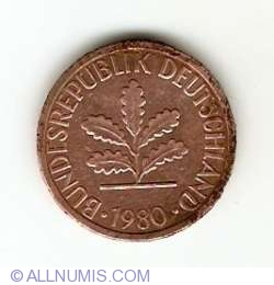 Image #2 of 1 Pfennig 1980 G