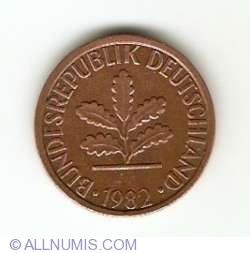 Image #2 of 1 Pfennig 1982 G