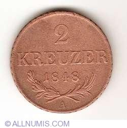 Imaginea #1 a 2 Kreuzer 1848 A