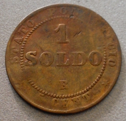 Image #1 of 1 Soldo 1866 (XXI) Small bust