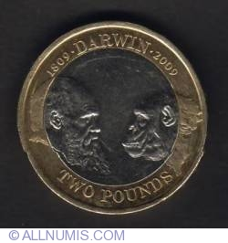 Image #1 of 2 Pounds 2009 - 200th Anniversary of Birth of Charles Darwin