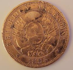 Image #2 of 2 Centavos 1884