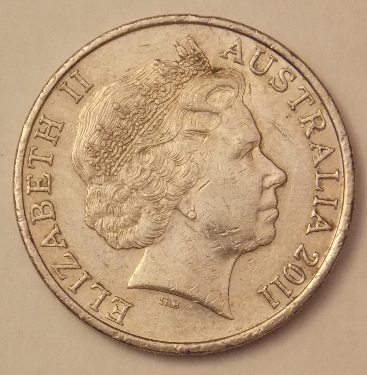 20 Cents 2011 Elizabeth Ii 1952 Present Australia