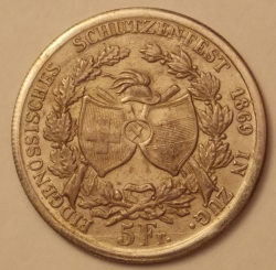 Image #1 of 5 Francs 1869 [COUNTERFEIT]