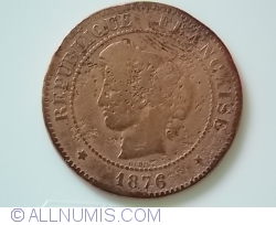 Image #2 of 5 Centimes 1876 A