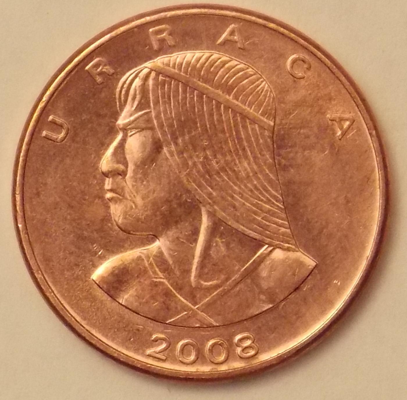 Single coin 2000 Panama 1 Centesimos F.A.O KM#132 UNC