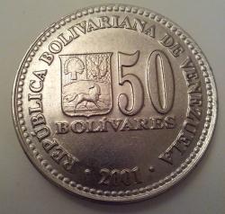Image #1 of 50 Bolivars 2001
