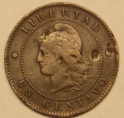 Image #1 of 1 Centavo 1890