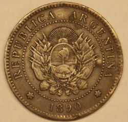 Image #2 of 1 Centavo 1890