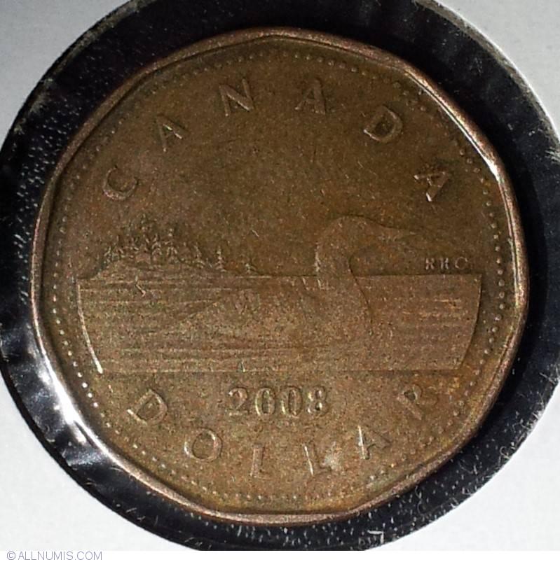 1 Dollar 2008 Elizabeth Ii 1953 Present Canada Coin