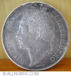 Image #2 of 1 Gulden 1841 - 25th Anniversary of Reign