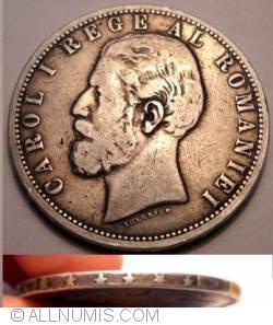 Imaginea #2 a 5 Lei 1881 - Muchia cu 6 stele, a 5-a pe o raza