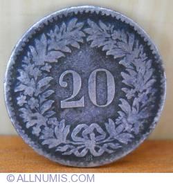 Imaginea #1 a 20 Rappen 1851 BB