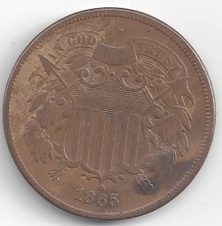 Two-Cent Piece 1865