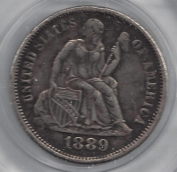 Image #1 of Seated Liberty Dime 1889