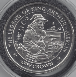 1 Crown 1996 -The Legends of King Arthur - Merlin