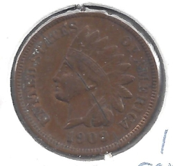 Indian Head Cent 1909