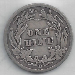 Image #2 of Barber Dime 1911 D
