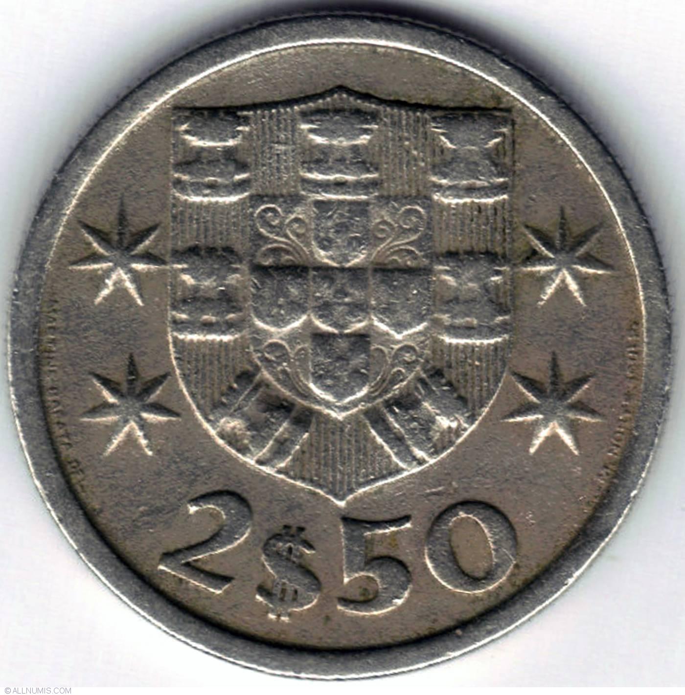 2 ½ Escudos 1965, Republic (1961-1970)
