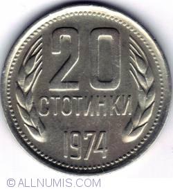 Image #1 of 20 Stotinki 1974