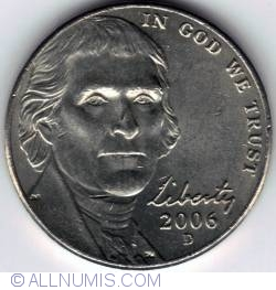 Image #2 of Jefferson Nickel 2006 D