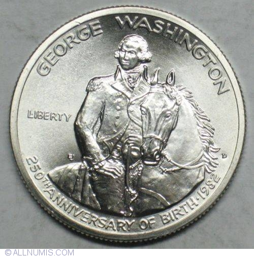Half Dollar 1982 D George Washington 250th Anniversary