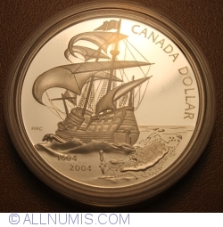 Image #2 of 1 Dollar 2004 - 400th Anniversary First French Settlement