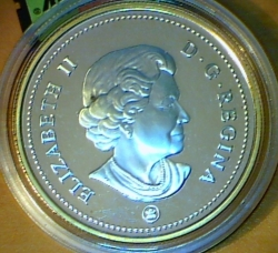 Image #1 of 1 Dollar 2008 - 400th Anniversary of Quebec City - Gold Plated