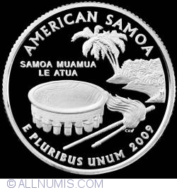 Image #2 of Quarter Dollar 2009 S - American Samoa  Silver Proof