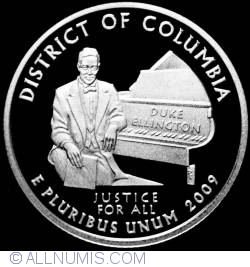 Image #2 of Quarter Dollar 2009 S- District of Columbia  Silver Proof