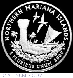 Image #2 of Quarter Dollar 2009 S - Northern Mariana Islands Silver Proof