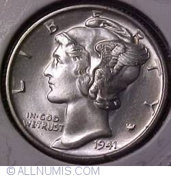 Image #1 of Dime 1941 S