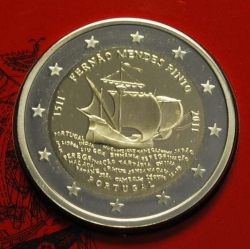 Imaginea #1 a 2 Euro 2011 - 500th Anniversary of the Birth Fernao Mendes Pinto  Proof