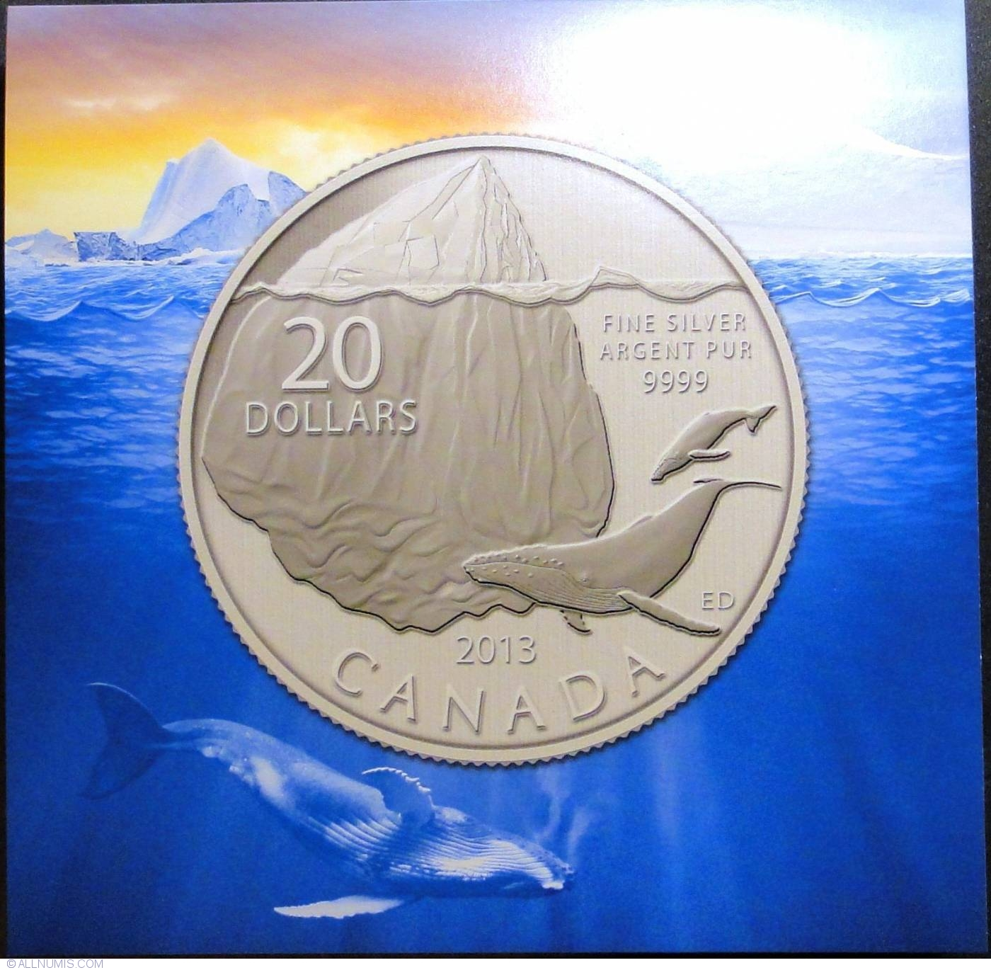 2013 CANADA $20 for $20 Iceberg coin with original folder #9 in series